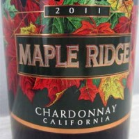 Wine Wednesday - 2011 Maple Ridge Chardonnay California