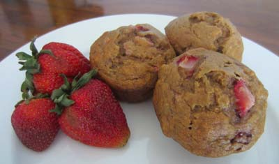 Banana Strawberry Muffins