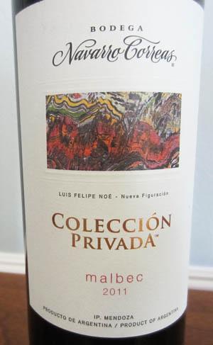 Navarro Correas Malbec Coleccion Privada