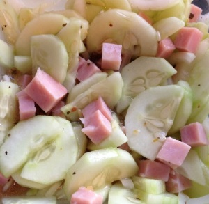 Cucumber Ham Salad @2CookinMamas