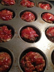 Mini Meatloaves @2CookinMamas